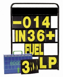 Sparco Pit Board and Numbers