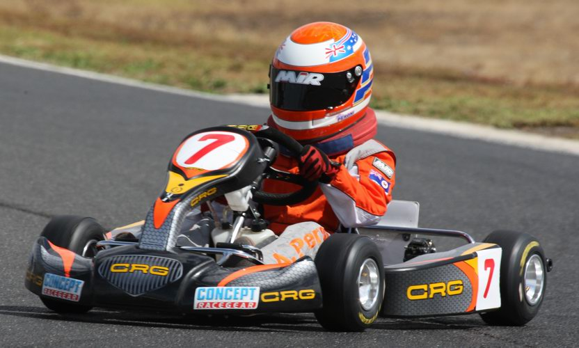 Alex Peroni at Smithton, Tas.