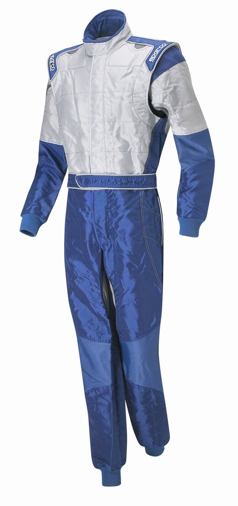Sparco X-Light Race Suit - Blue / Silver